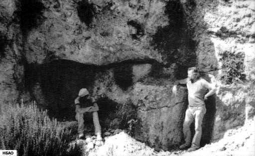 Рон с сыновьями, во время раскопок